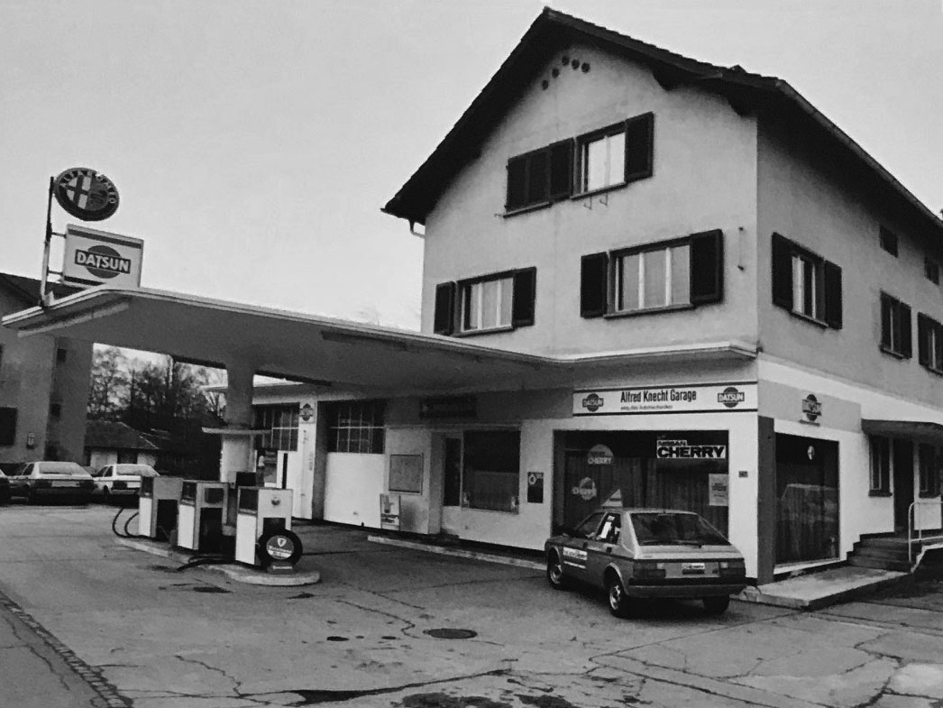 Aussenansicht der Garage Knecht 1975